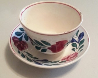 Stick Spatter Spongware Cup and Saucer