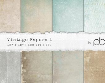 Vintage Paper Textures 1 - Digital Download