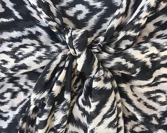 Sarong/ Sarongs/ Black/ Ikat print/ One of a Kind/ Sarong Skirt/ Pareo/ Beach Cover Up/ Limited Edition