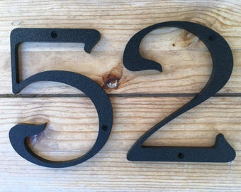 3 inch Iris House Numbers Letters