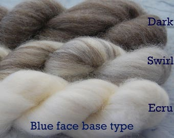 Blueface Base Naked Top - undyed and natural ECRU