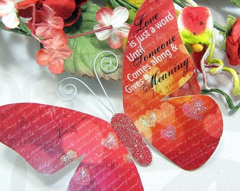 Butterfly Embellishments Candy Apple