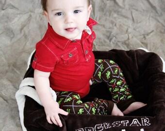 Brown Skulls Pirate Peace Baby Toddler Leg Warmers