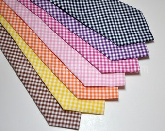 Men's Necktie, Gingham Necktie, Wedding Necktie, Preppy Tie