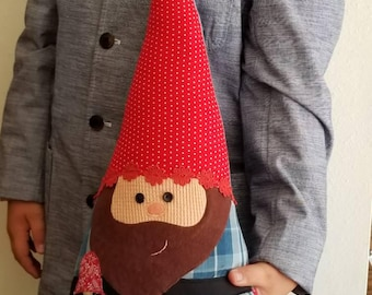 Gnome Doll - Gnome Pillow - Gnome Stuff Animal - Fairy Tale Pillow - Scandinavian Gnome - Gnome Kid - Woodland Creature - Woodland Nursery