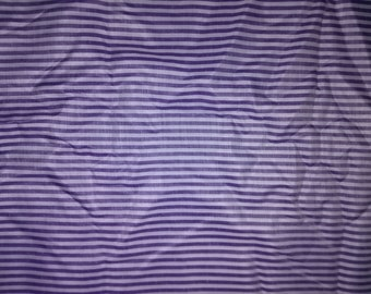 Purple Striped Cotton Fabric