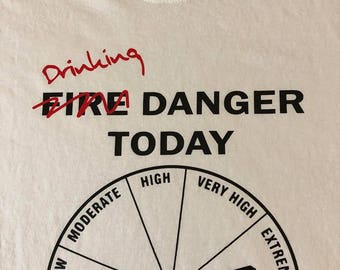 Camping Fire Drinking Danger Shirt