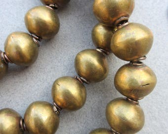 Old African Brass Beads
