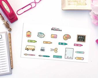 KAWAII SCHOOL THINGS Paper Planner Stickers!