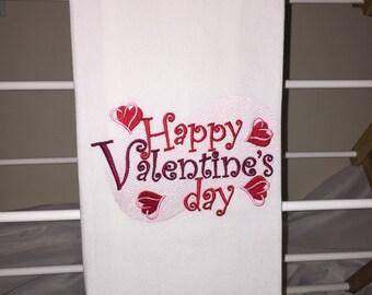 Valentine's Day Kitchen Towel - Red