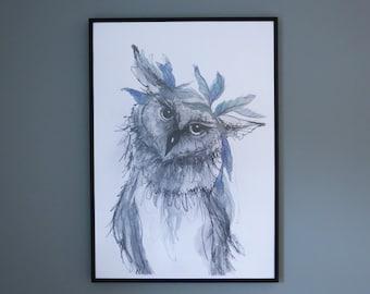Boho Owl Print - A2