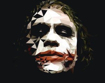 Joker abstract polygon art poster