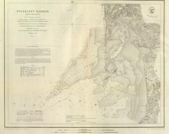 Wellfleet Harbor, MA - 1853 Nautical Map - Reprint - 18-USA Regional-1854-02