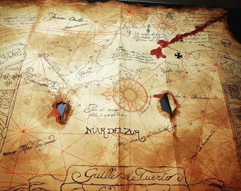 Playing the map taken from the movie Goonies