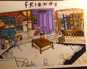 monica's apartment [friends] [print]