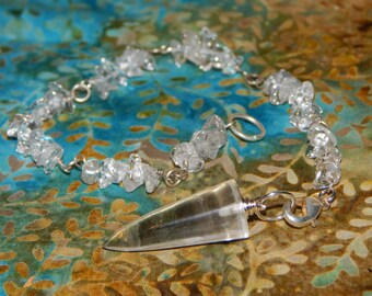 Crystal Pendulums with Protective Pouch and Detachable Bracelet Option
