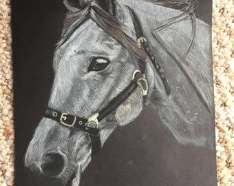 Pastel portrait of your horse