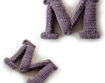 Letter M Crochet Pattern, 3D Alphabet crochet pattern, 3d words pattern, 3d letters pattern, words home deco, decorative letters crochet