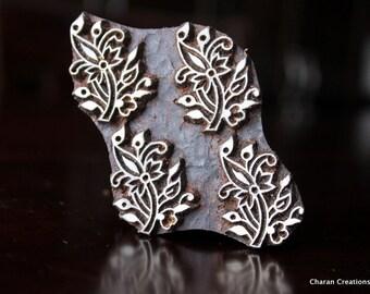 Textile Stamp, Pottery Stamp, Indian Wood Stamp, Tjaps, Blockprint Stamp-  Floral Seamless Pattern