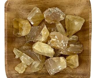 Honey Calcite - Citrine Calcite - Raw Calcite - Natural Calcite - Solar Plexus - Sacral Chakra - Energy Healing - Reiki