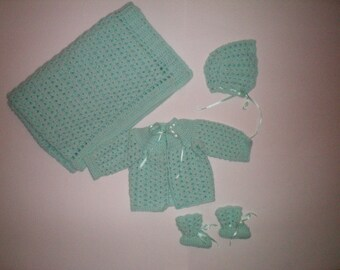 Welcome Home Crochet Baby Layette - Item CBJ591