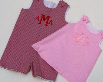Monogrammed Jumper or Jon Jon, Custom Boutique Jumper, Designed by You