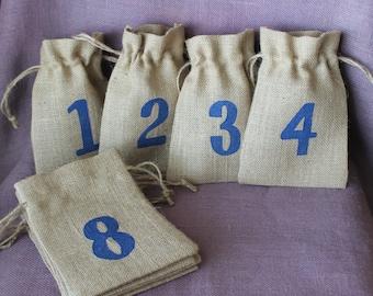 Hanukkah Countdown bags. Chanukkah countdown bags.  Hanukkah bags.