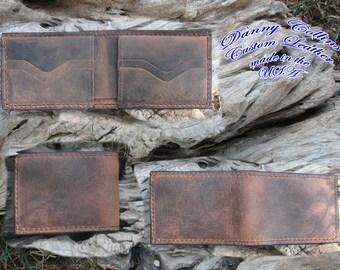 Buffalo leather wallet, Mens Leather wallet, Leather Bifold Wallet