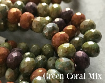 Choice of 7X5mm Rondelle, 7 x 5mm rondelle, Czech glass beads, Czech glass spacers, Czech Glass, Rondelles,