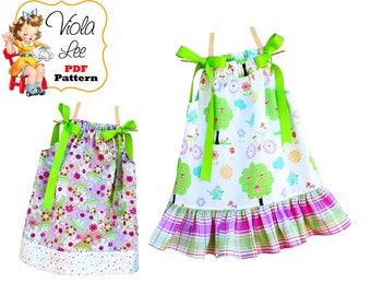 Girls Dresses, Girls Ruffle Pillowcase Dress Patterns. pdf sewing Patterns, Girls Sewing Pattern. Kids Sewing patterns, Toddler Dresses, Mia