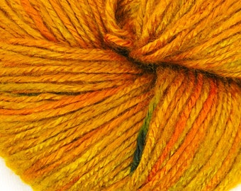 """Bamboo yarn """"Copper"""", organic, vegan, fingering weight, hand painted, hand dyed, knit yarn, crochet, weaving, fall, autumn, eco-friendly"""