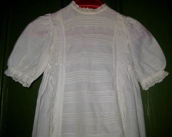 Lovely Long Antique Baby Gown, Christening Gown