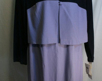 Vintage 80s Dress with Jacket set Suit DANI MAX  1980's New Old Stock