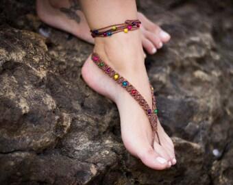 "Macrame Barefoot Sandal ""Hermu"""