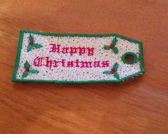 Lace Christmas Gift Tag