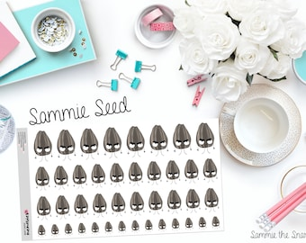 "SAMMIE SNARK SEED: ""All the Eye Rolls"" Paper Planner Stickers"