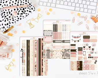 Rosewood HORIZONTAL Weekly Kit // 130+ Matte Planner Stickers // Perfect for your Erin Condren Life Planner // WKH0420