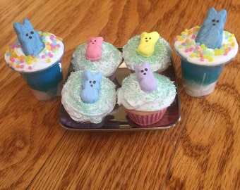 American Girl 18 Inch Doll AG Easter Bunny Basket Cupcake Food Drink Set