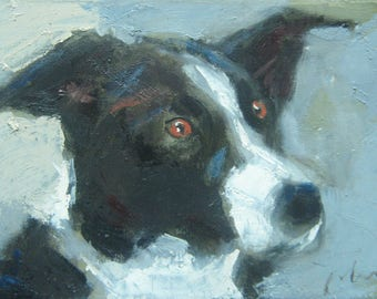 Dog portait (LO-70), author: Mato Jurkovic, academic painter