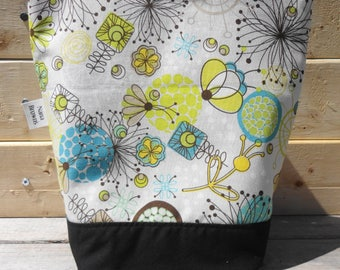 Insulated Lunch Bag - Brook - Floating Allover - Turquoise
