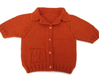Knit baby sweater baby wool sweater toddler girl sweater toddler boy sweater newborn baby cardigan baby terracotta sweater christmas sweater