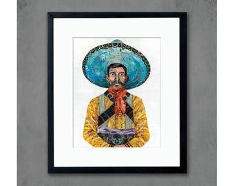 Southwestern Vaquero Cowboy Art Print by Dolan Geiman