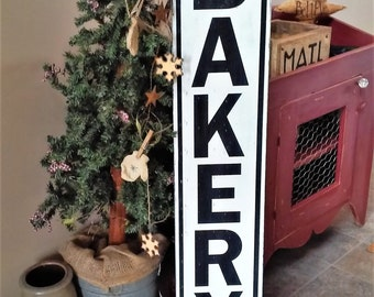 Bakery Sign, Rustic Wood Bakery Sign