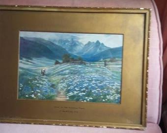 Vintage Landscape 'June in the Austrian Tyrol' J MacWhirter. print