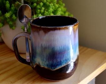 night sky mug (with spoon handle)