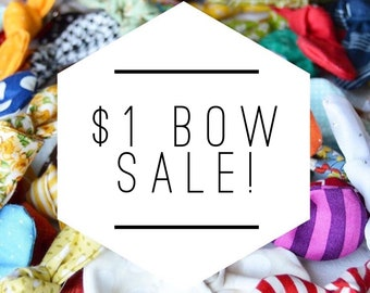 Mega Grab Bag Bow Sale // Ready To Gift // Headband or Clip Option