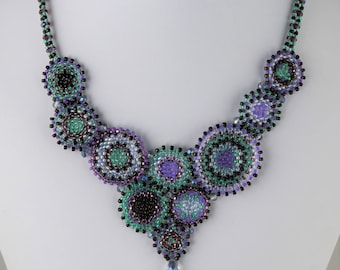 Kaleidoscope Necklace in Purple and Teal