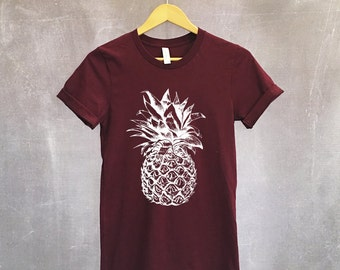 Pineapple Shirt - Pineapple TShirt - Pineapple Tee Fruit Shirt - Pineapple T Shirt Tumblr Top - Hawaiian Shirt