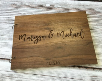 Wedding Guest Book Alternative | Personalized Guest Book | Guest Book Alternative | Wood Guest Book Wedding | Engraved Guest Book