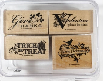 "Stampin Up "" Holiday Best"" Stamp Set"